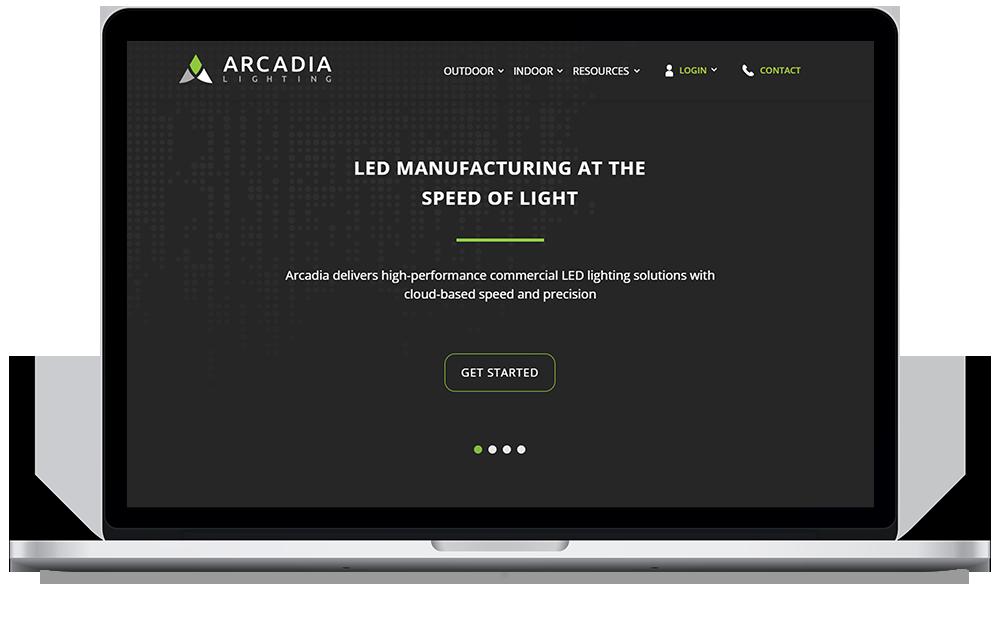 Arcadia Web Mockup