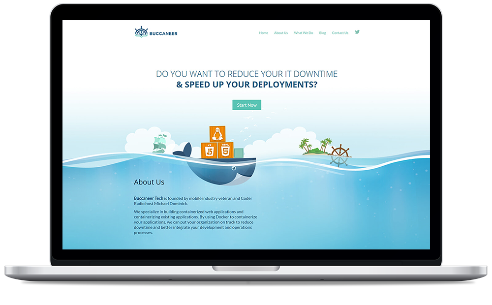 Buccaneer Web Mockup