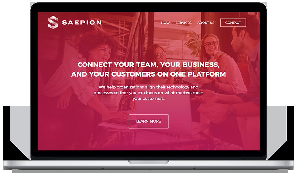 Saepion Web Mockup