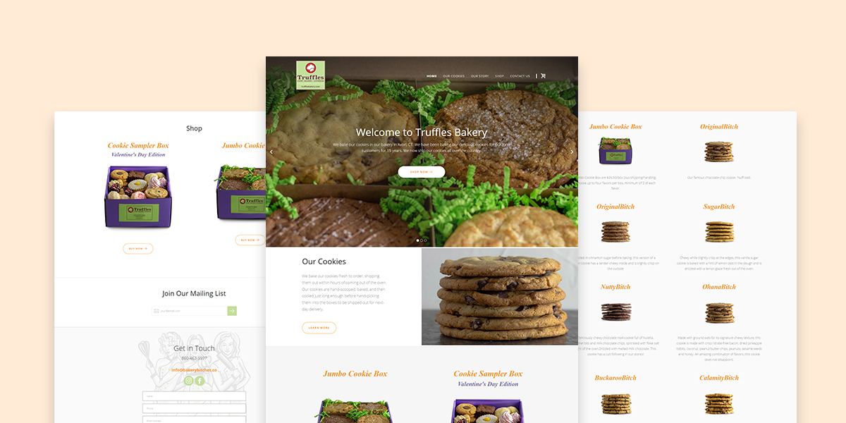 Truffles Bakery eCommerce Image Slider