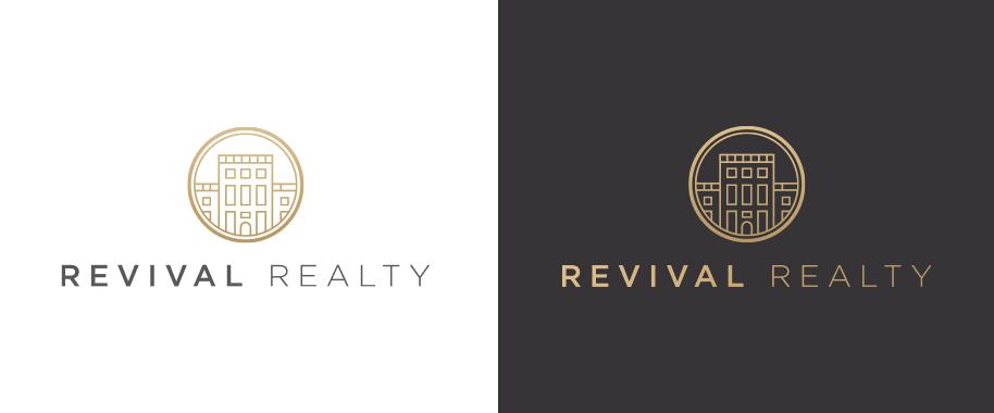 Minimal Real Estate Logo Revival Realty